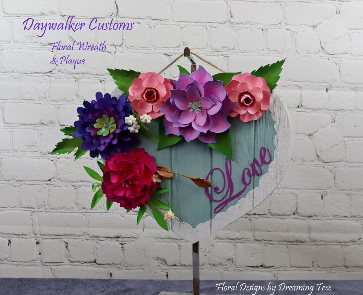 Floral Heart Plaque