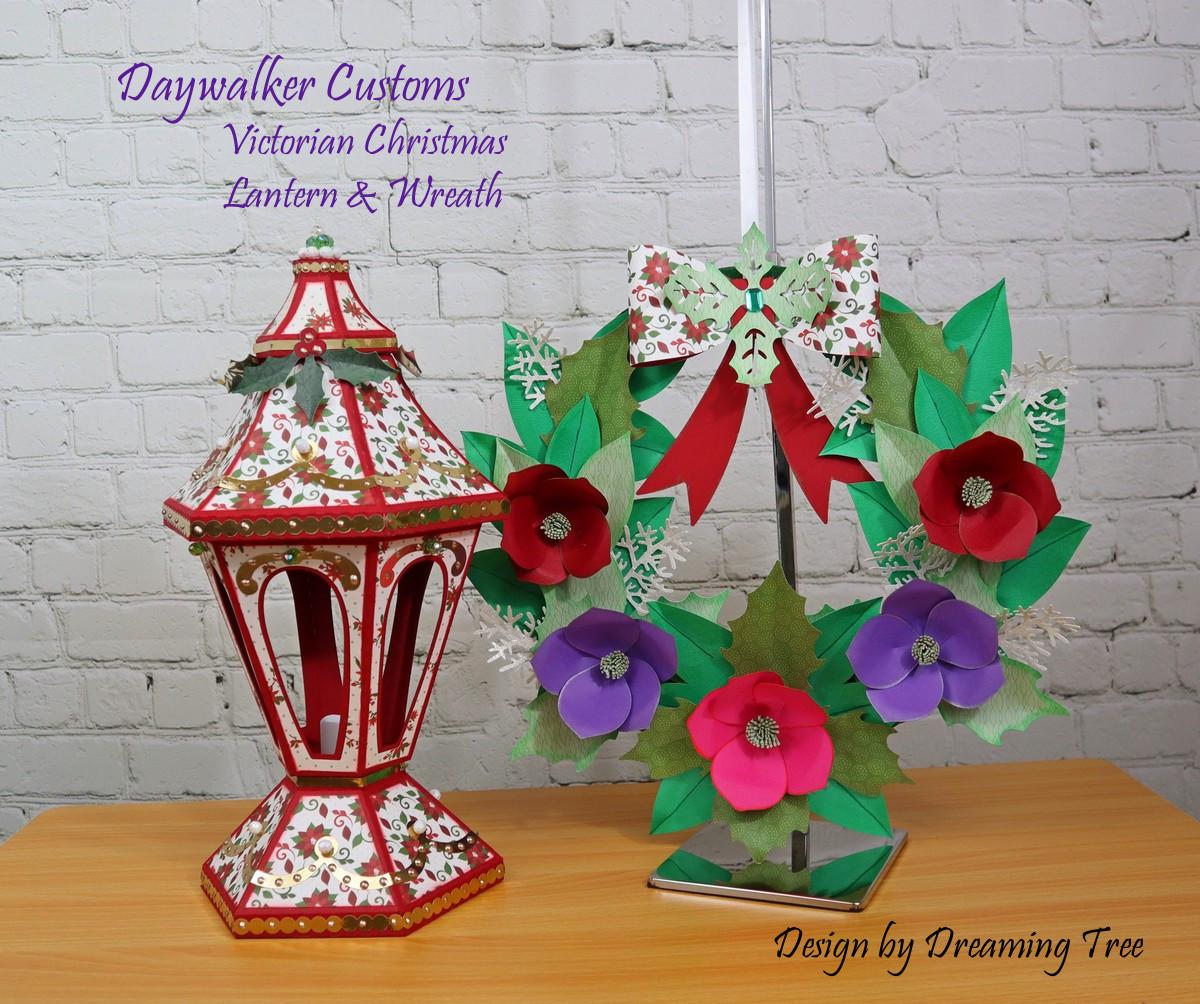 Christmas Lantern and Wreath