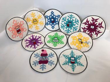Snowflake Mug Rugs