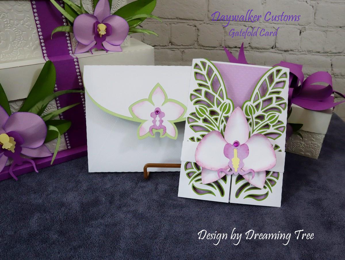 Orchid Gatefold Card