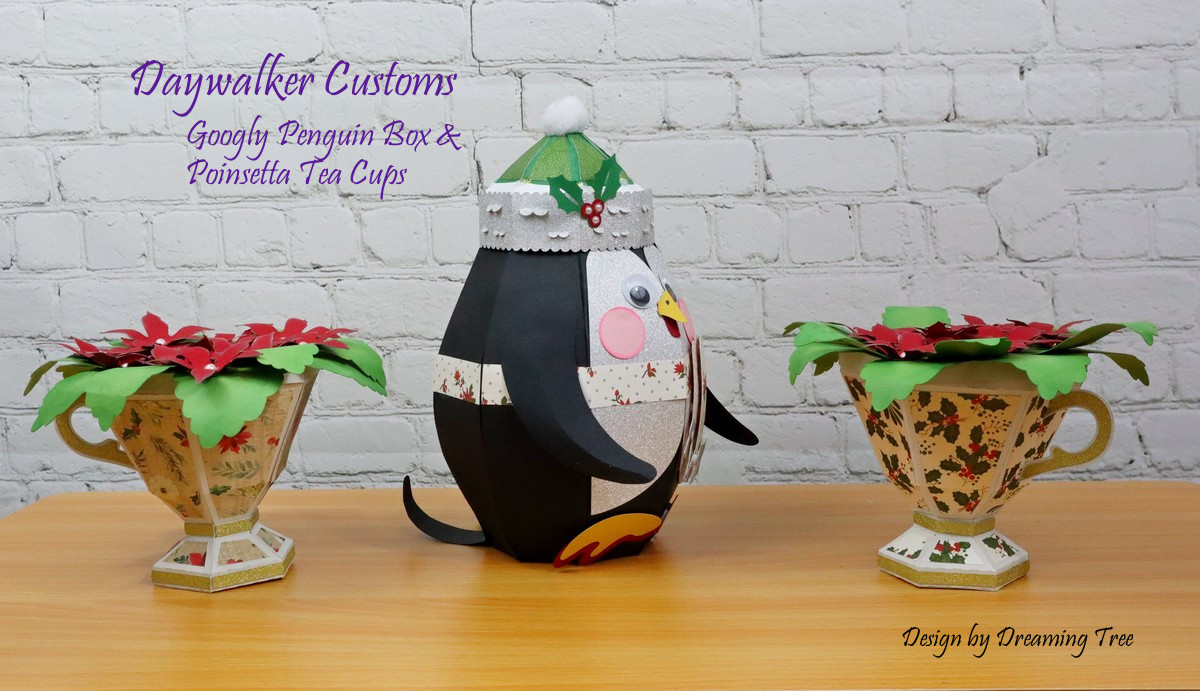 Penguin Box & Tea Cups