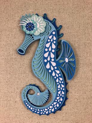 3D Mandala Seahorse