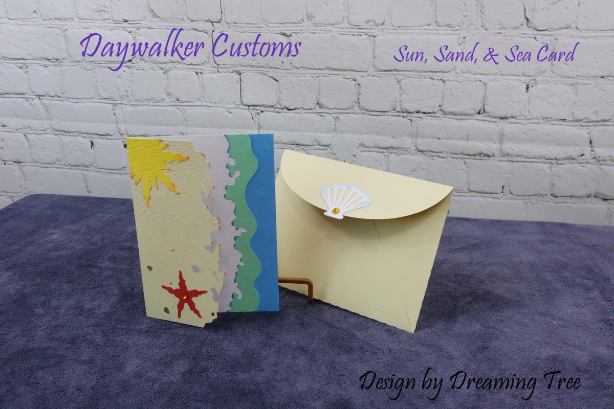 Sun, Sand, and Sea Card