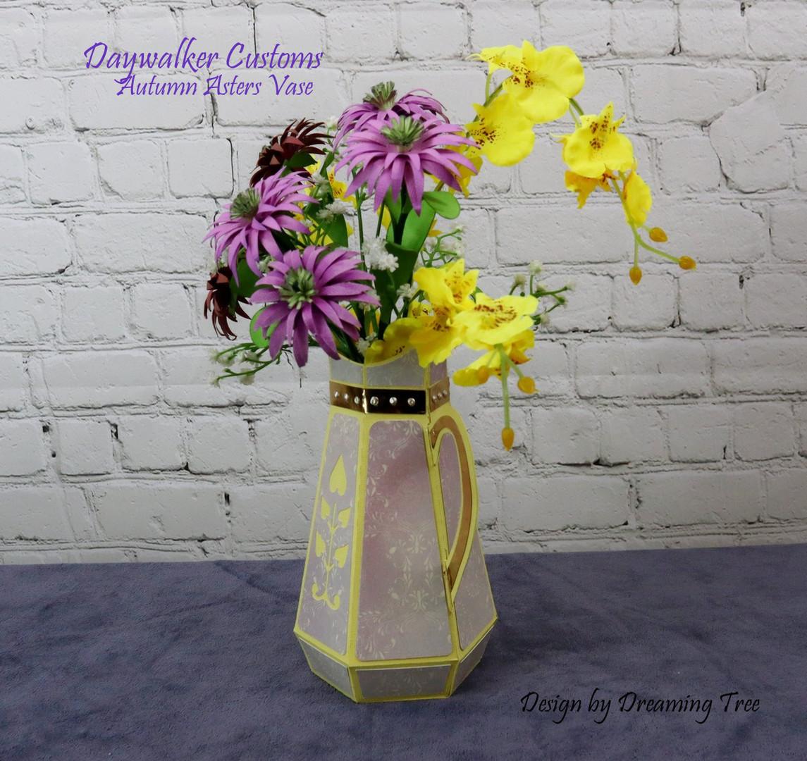 Autumn Asters Vase