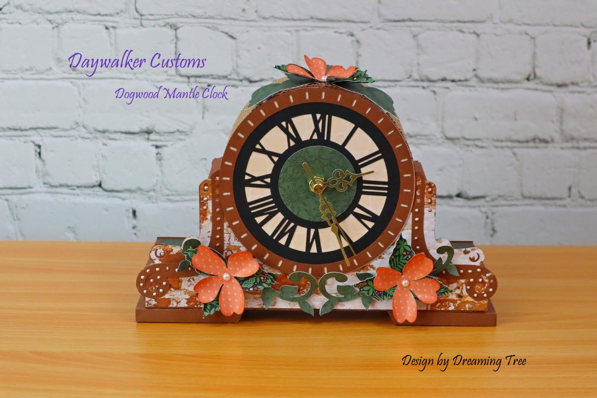 Dogwood Mantle Clock