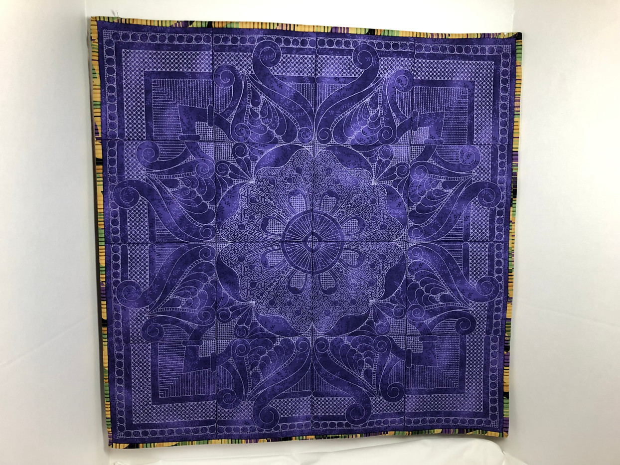 Embroidered Block Wallhanging