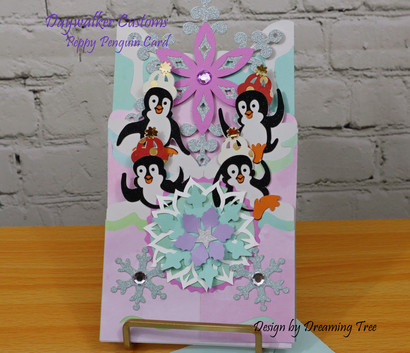 Peppy Penguins Cascade Card