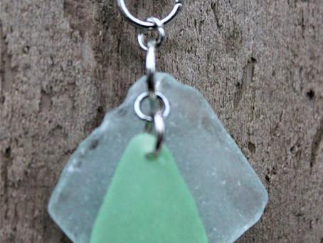 New on Etsy - Mint Green Beach Glass Pendant