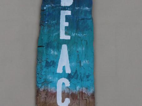 New on Etsy - Beach Driftwood Wall Art/Sign