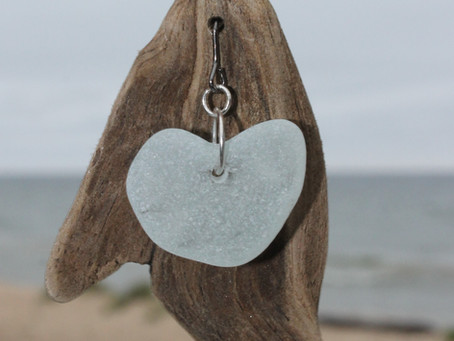 New - Driftwood and Beach Glass Combo Pendant