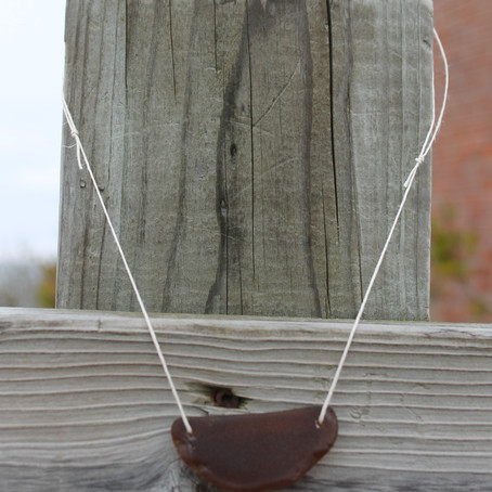 Necklace Available on Etsy - Brown Beach Glass