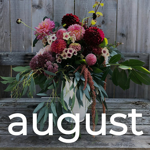 Four Weeks of Flowers - August Subscription