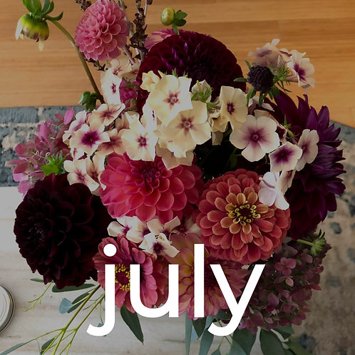 Four Weeks of Flowers - July CSA