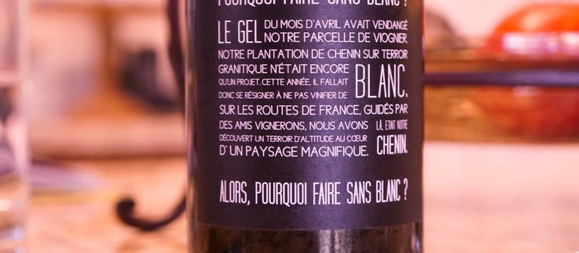 Tasting Notes: Pourquoi Faire Sans Blanc?
