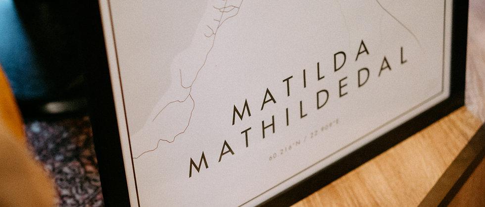 Matilda minimalistinen juliste