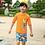 Thumbnail: SKN9304 Orange Ocean Kids Swimwear