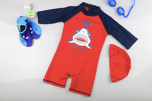 KYM9743 Shark Attack One Piece Kidswear