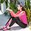 Thumbnail: RSN18298粉拼黑长袖长裤三件套泳装