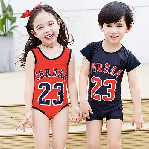 SKMY7578 男女童连体数字泳装