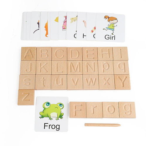 Alphabet tracing blocks Double Sided with cards