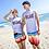 Thumbnail: RCBP17001 渐变彩色情侣沙滩裤(ONLY WOMEN)