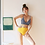 Thumbnail: SVV19522 Retro Checker Yellow Bikini
