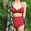 Thumbnail: ST1765 Plain Ruffles HighWaist PushUP Bikini
