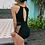 Thumbnail: SNN20790 Polka Gauze Round Neck Monokini