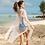 Thumbnail: SN202018 Blue Bikini with White Outerwear