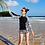 Thumbnail: STS5504 大码长袖热裤泳装