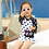 Thumbnail: SKN9412 Kitten Polka Dot Kids Swimwear