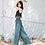 Thumbnail: RCSGSW73706情侣针织罩衫雪纺长裤高腰泳衣套装