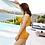 Thumbnail: SOS9221 Single Straps Slope Shoulder Bikini