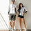 Thumbnail: CSN19665 Black N White Couple Zip Rash Guard Set