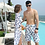 Thumbnail: CXSN8930 Chiffon outer high waist bikini Couple set