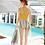 Thumbnail: RCXSN1902 Yellow Zig Zag lining Couple set Swimwear