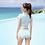 Thumbnail: SN20318 High Waist Short Sleeve With Skirt 3pcs set