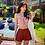 Thumbnail: SN191211 Peach Pink Skort Bikini