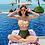 Thumbnail: RSVV19771 Yellow Checker Green Tie Back High Waist Bikini