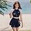 Thumbnail: RSN19121 Short Sleeve Skirt type 3pcs set Bikini
