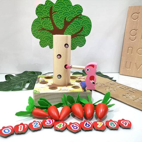 Wooden Woodpecker 3in1 toy set 啄木鸟3合1木制玩具