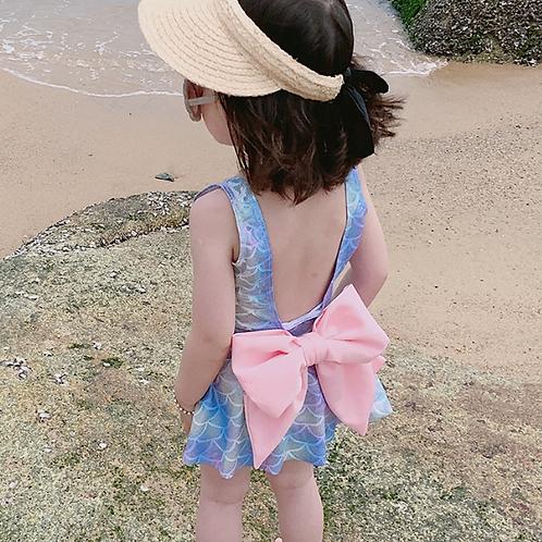 KM1931 Mermaid Dress Type Kids Swimwear