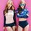 Thumbnail: RSN1715 粉系水母长袖比基尼