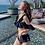 Thumbnail: SQX19931 Black Flounce High waist Bikini 2pcs/3pcs