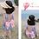 Thumbnail: KM1931 Mermaid Dress Type Kids Swimwear