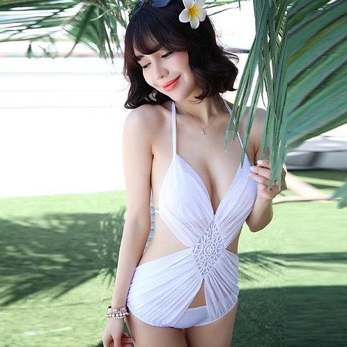 S3141 特价欧美风格雪纺纱网时尚性感三角连体