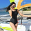 "Thumbnail: RSXXF1995 ""NHY"" Rash Guard Monokini Set"