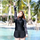 Thumbnail: <5XL>SXF1708 大码长袖四件套泳装