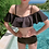 Thumbnail: SN2099 Flounce Off Shoulder Black Bikini