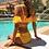 Thumbnail: SN19906 Yellow Flounce String Bikini